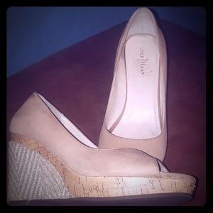 Cole Haan Peep Toe Wedges